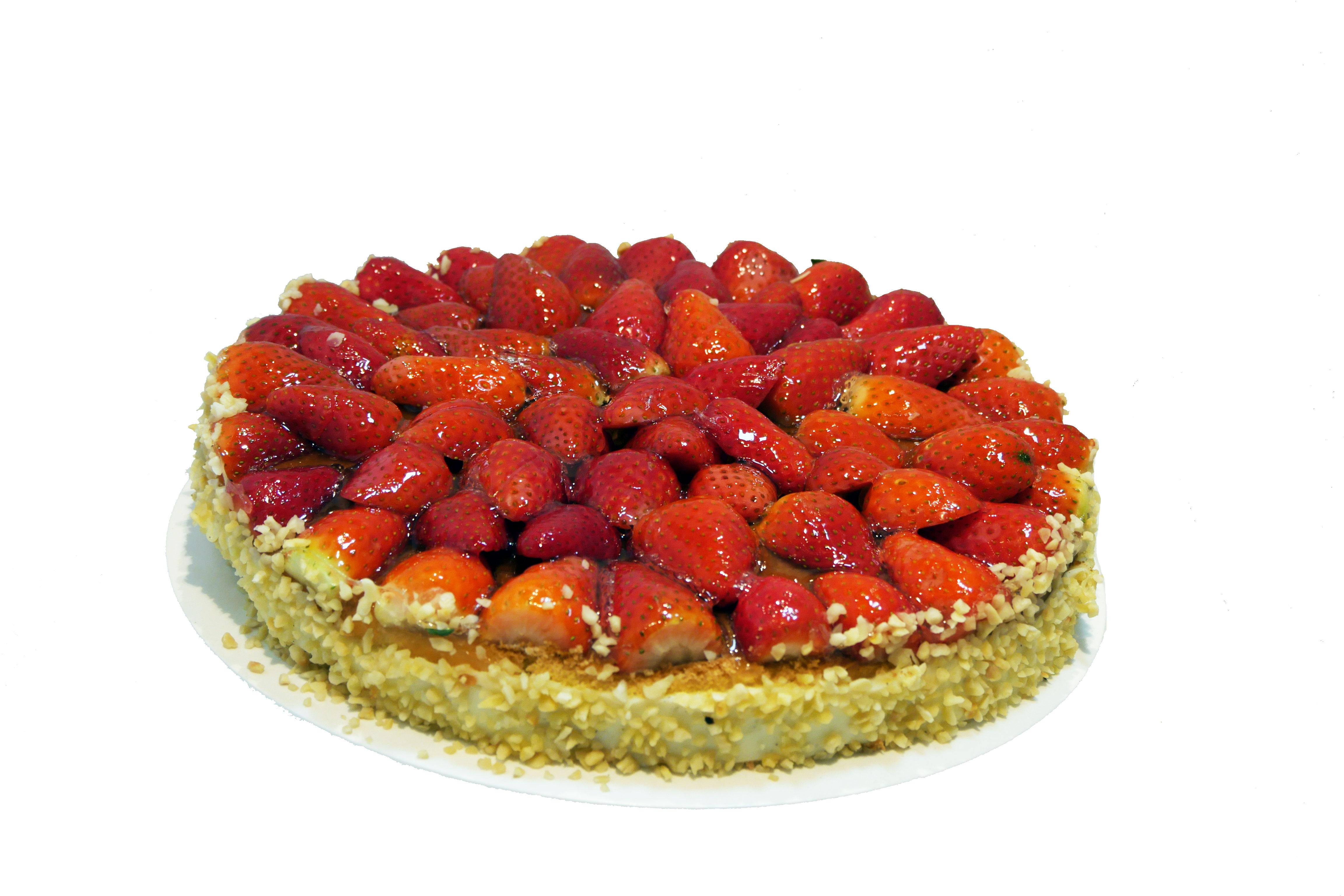 Erdbeerboden mit Pudding