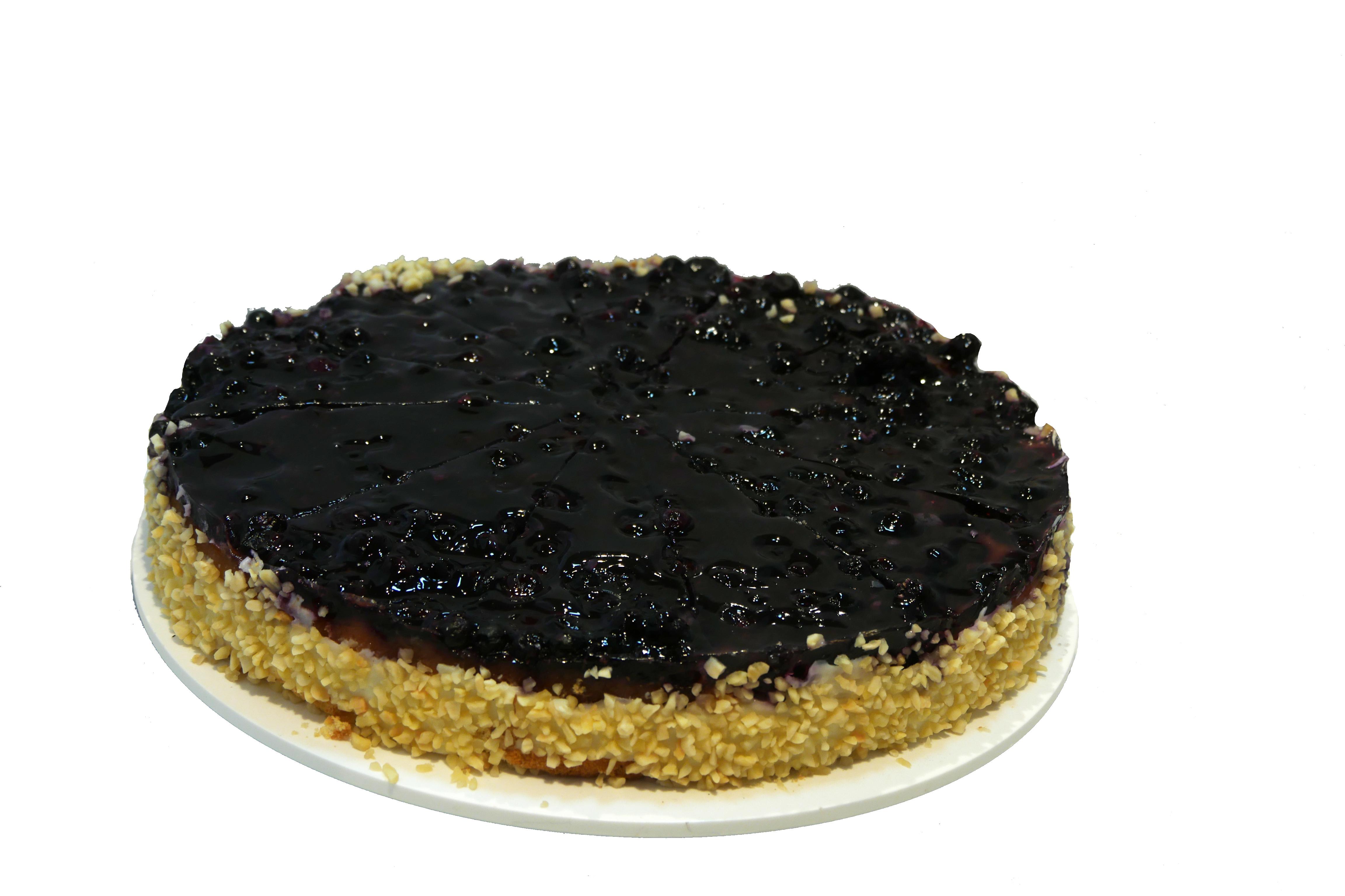 Heidelbeerboden mit Pudding